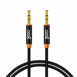 Cable Jack 3.5 mm a Jack 3.5 mm COOL Audio-Audio Nylon...