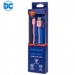 Cable USB Licencia DC Superman Lightning iPhone 6 / 7 / 8...