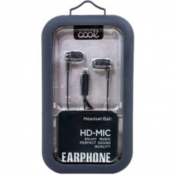 Auriculares 3,5 mm COOL Bali Stereo Con Micro Gris